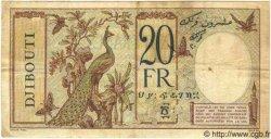 20 Francs au paon DJIBOUTI  1936 P.07a TB+ à TTB