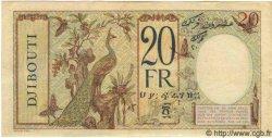 20 Francs au paon DJIBOUTI  1941 P.07A SPL