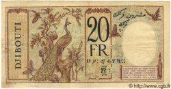 20 Francs au paon DJIBOUTI  1936 P.07b TTB