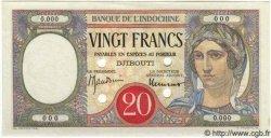 20 Francs DJIBOUTI  1947 P.07Bs pr.NEUF