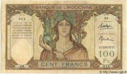 100 Francs type 1931 DJIBOUTI  1931 P.08 TTB+