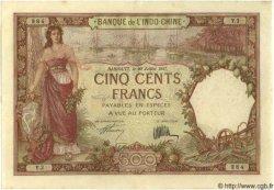 500 Francs Type 1927 DJIBOUTI  1927 P.09a SPL