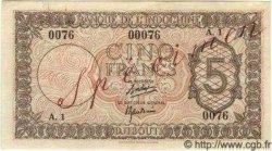 """5 Francs """"Palestine"""" DJIBOUTI  1945 P.14s SUP"""