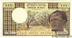 5000 Francs DJIBOUTI  1975 P.35