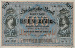 100 Mark  GERMANY Dresden 1911 PS.0952b