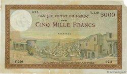 5000 Francs MAROC 1949 P.23c
