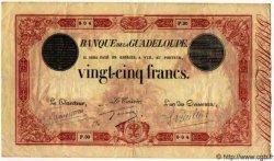 25 Francs Type 1874 GUADELOUPE  1874 P.08 pr.TTB