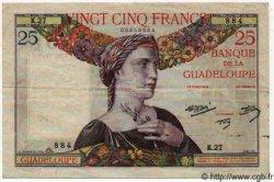 25 Francs GUADELOUPE  1944 P.14 TTB