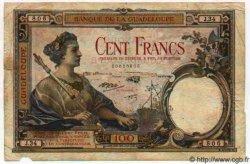 100 Francs GUADELOUPE  1944 P.16 TB+
