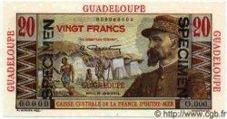 20 Francs Émile Gentil GUADELOUPE  1946 P.33s SPL+