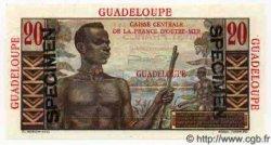20 Francs GUADELOUPE  1946 P.33s SPL+