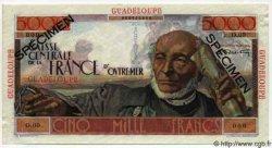 5000 Francs Schoelcher GUADELOUPE  1946 P.38s pr.NEUF