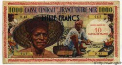 10 NF sur 1000 Francs GUADELOUPE  1960 P.43 pr.TTB