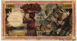10 NF sur 1000 Francs pêcheur GUADELOUPE  1960 P.43 pr.TTB