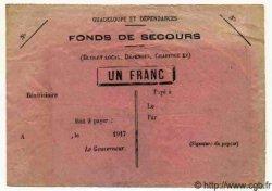 1 Franc GUADELOUPE  1917  TTB