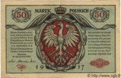 50 Marek POLOGNE  1917 P.005 TTB+