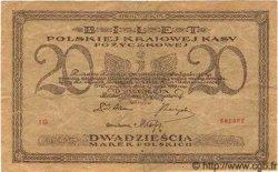 20 Marek POLOGNE  1919 P.021 pr.TTB