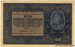 100 Marek POLOGNE  1919 P.027 NEUF