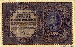 1000 Marek POLOGNE  1919 P.029 TTB