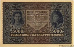 5000 Marek POLOGNE  1920 P.031 SPL