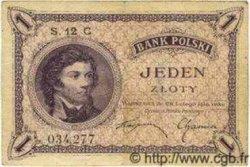 1 Zloty POLOGNE  1924 P.051 TTB