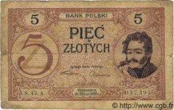 5 Zlotych POLOGNE  1924 P.053 TB