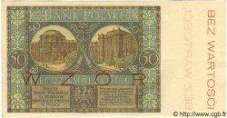 50 Zlotych POLOGNE  1925 P.064s pr.NEUF