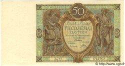 50 Zlotych POLOGNE  1929 P.071 pr.NEUF