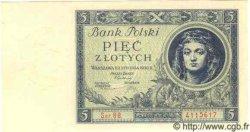 5 Zlotych POLOGNE  1930 P.072 NEUF