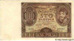 100 Zlotych POLOGNE  1934 P.075 pr.NEUF