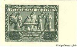 50 Zlotych POLOGNE  1936 P.078b SPL