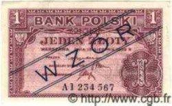 1 Zloty POLOGNE  1939 P.079s pr.NEUF