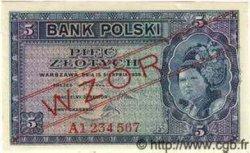 5 Zlotych POLOGNE  1939 P.081s pr.NEUF