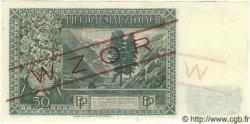 50 Zlotych POLOGNE  1939 P.084s pr.NEUF