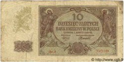 10 Zlotych POLOGNE  1944 P.094 TB