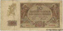 10 Zlotych POLOGNE  1944 P.(094) TB
