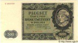 500 Zlotych POLOGNE  1940 P.098 NEUF