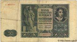 50 Zlotych POLOGNE  1944 P.102 TB