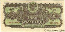 5 Zlotych POLOGNE  1944 P.108 pr.NEUF