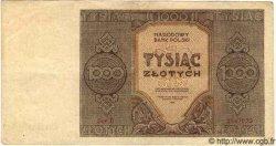 1000 Zlotych POLOGNE  1945 P.120 TTB