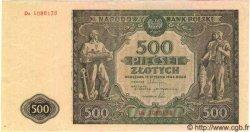 500 Zlotych POLOGNE  1946 P.121 TTB+