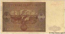 1000 Zlotych POLOGNE  1946 P.122