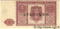 1 Zloty POLOGNE  1946 P.123s SPL