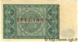 2 Zlote POLOGNE  1946 P.124s