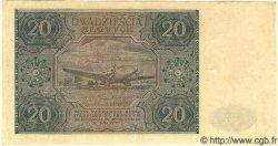 20 Zlotych POLOGNE  1946 P.127 SUP