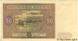 50 Zlotych POLOGNE  1946 P.128 SPL