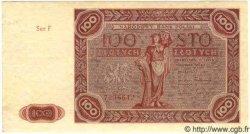 100 Zlotych POLOGNE  1947 P.131a SPL