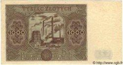 1000 Zlotych POLOGNE  1947 P.133 SPL