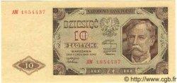 10 Zlotych POLOGNE  1948 P.136 NEUF