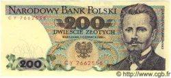 200 Zlotych POLOGNE  1986 P.144b pr.NEUF